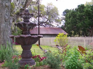 Fountain by the entrance